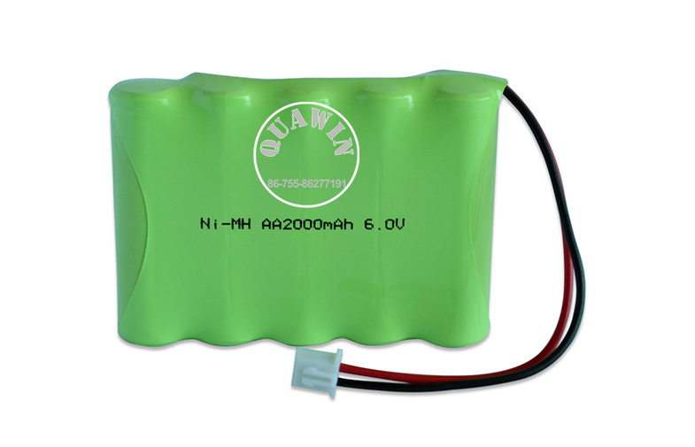 High Energy 6V AA 2000mAh Ni-MH Rechargeable Battery Pack
