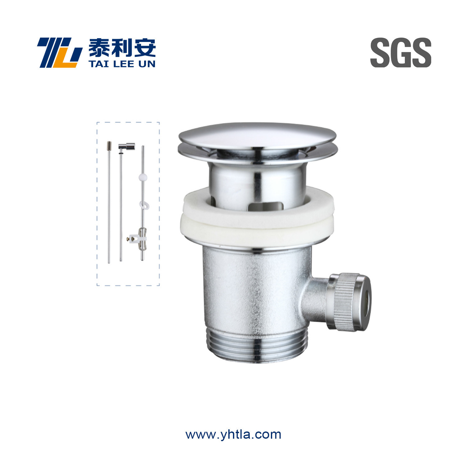 Chrome Plated Pop up Wash Basin Waste for Toilet (T1065)