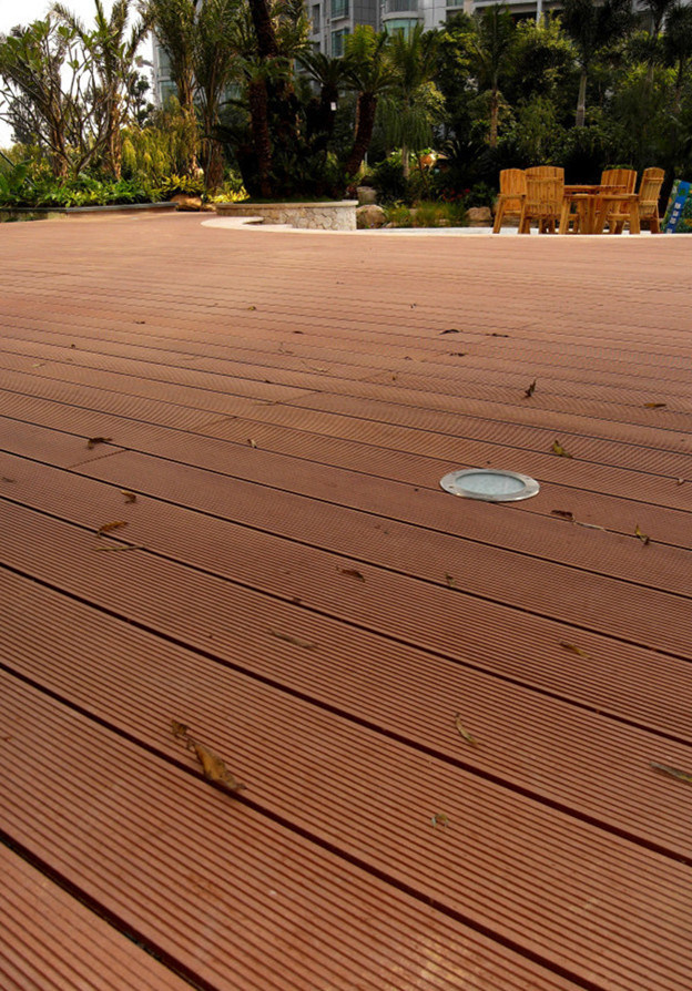 WPC Outdoor Flooring, Composite Decking, HDPE Decking (DH01) 100x25