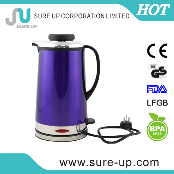 Double Wall Stainless Steel Electric Water Kettle Electric Travel Kettle