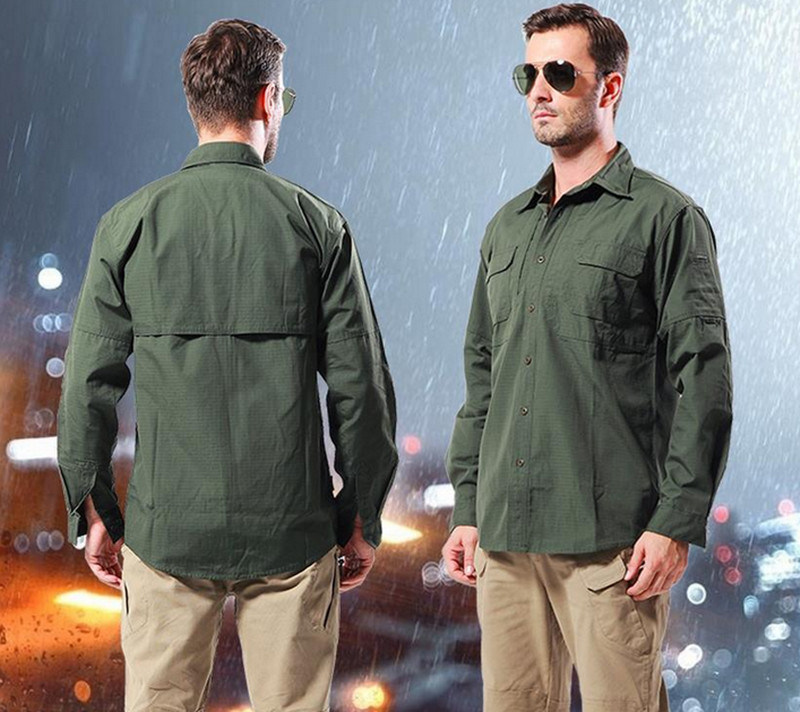 Wholesale Outdoor Long Sleeves Commander Wild Training Clothes Military Men′s Shirt