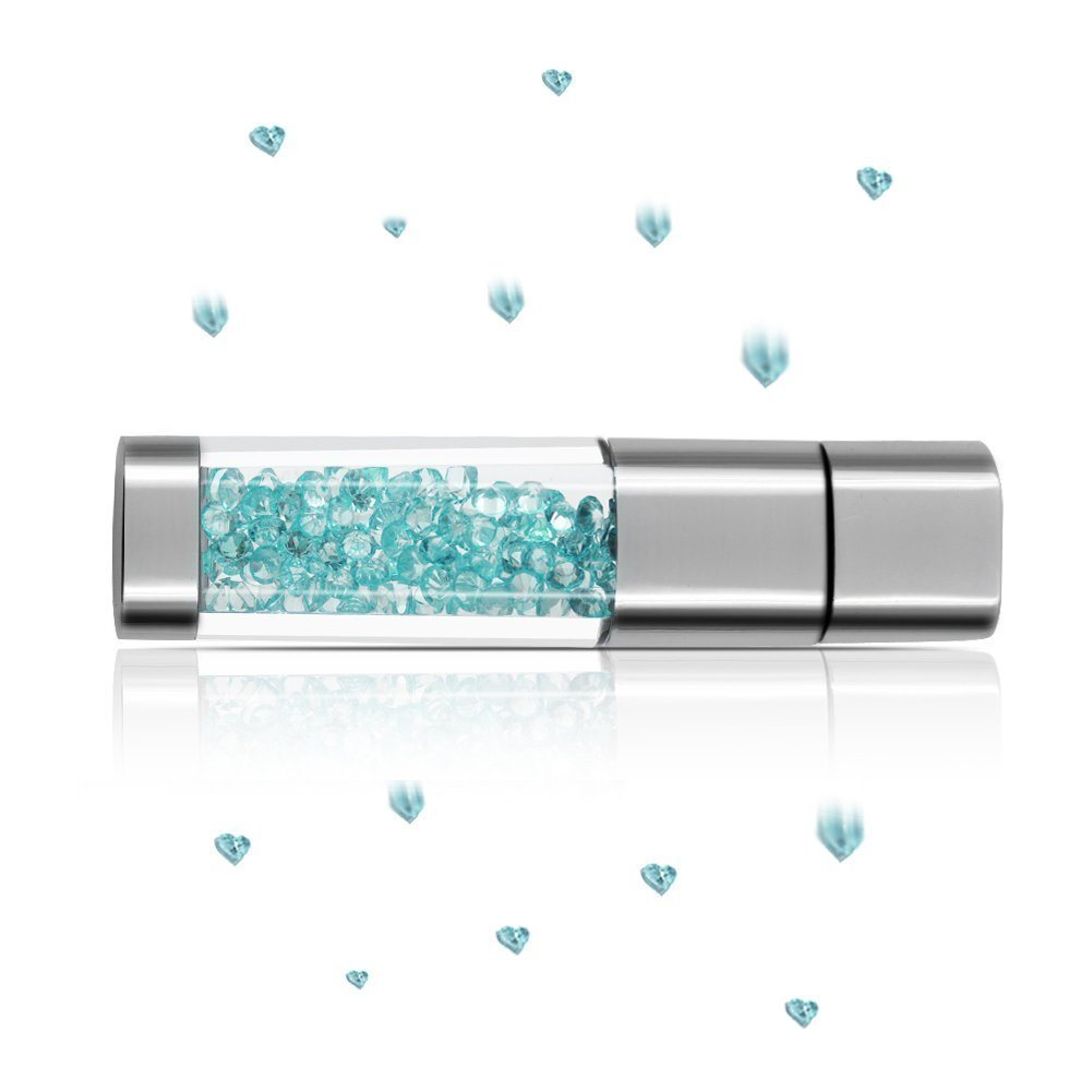 Techkey Jewelry Crystal USB Flash Drive for Girls