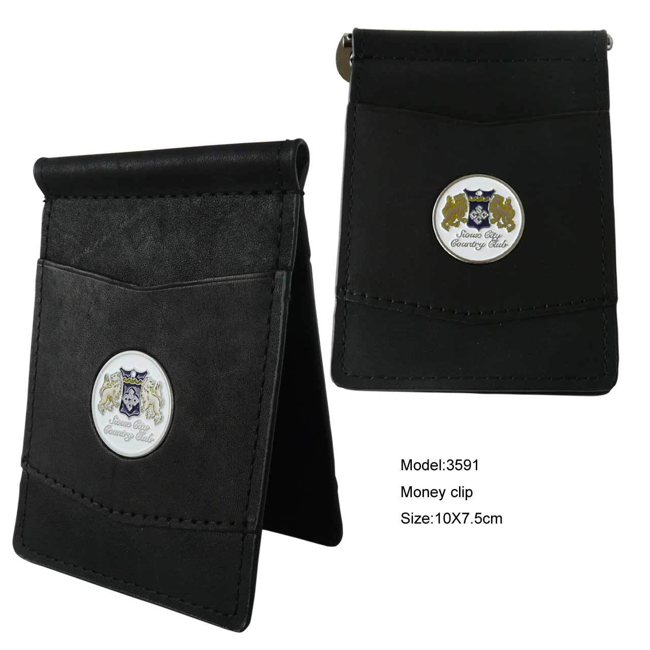 Leather Money Clip Wallet Manufacture (3591)