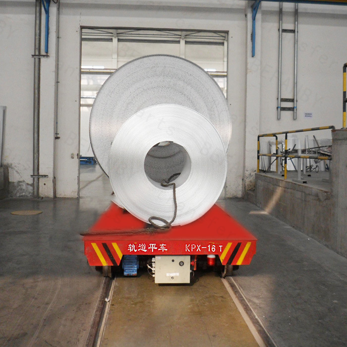 Heavy Industry Railway Handling Trailer for Steel Coil on Rails