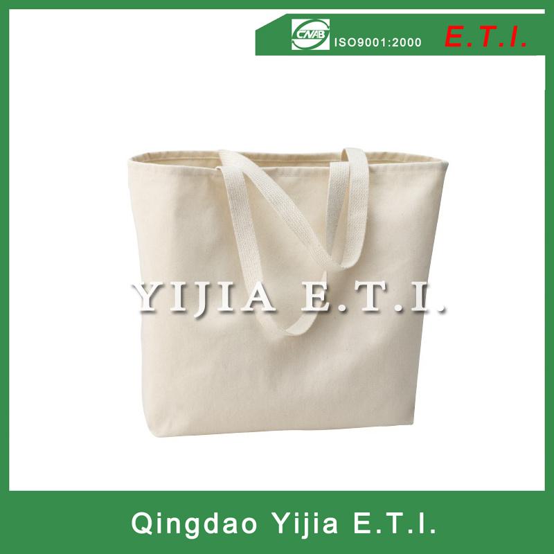 Cotton Canvas Tote Bag with Webbing Handles