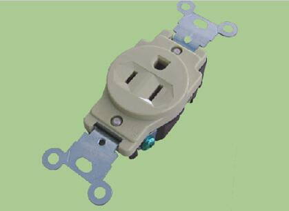 U33-1 ABS Ivory 250V/20A Standard Grounding, American Standard Electric Socket/Receptacle