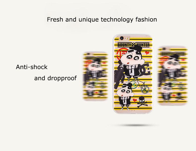 3D Crayon Shin-Chan Cartoon TPU+PC Phone Case for iPhone 6/6 Plus