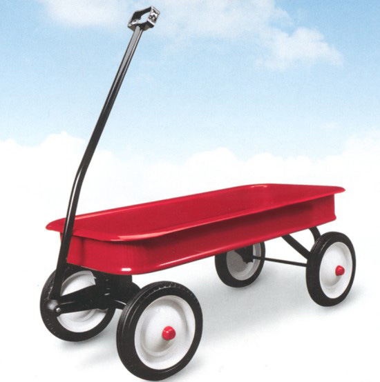 Radio Flyer Classic Red Wagon Tool Cart