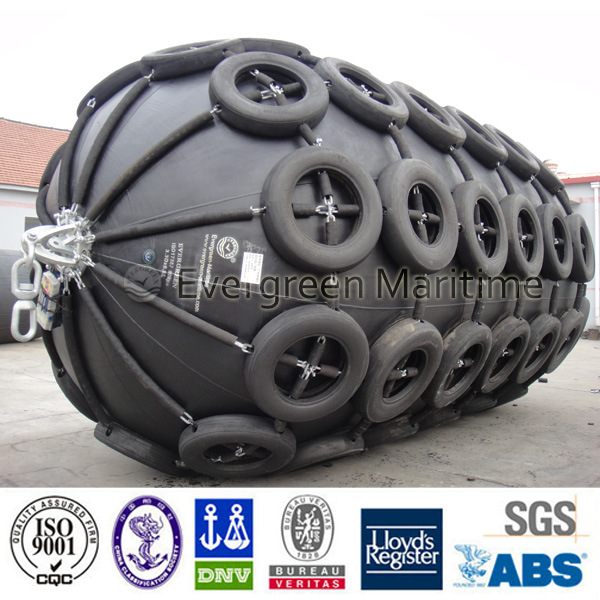 Marine Rubber Fender with Tire Chain