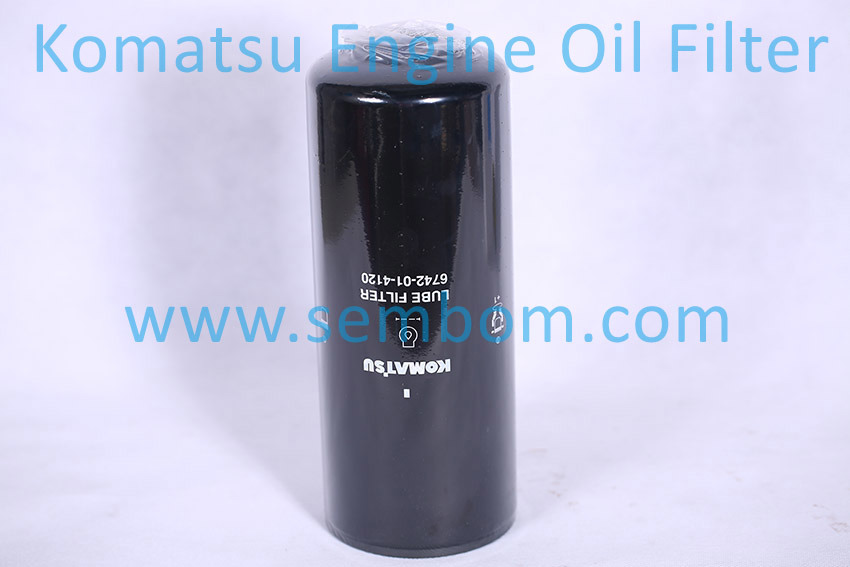 High Performance Engine Oil Filter for Komatsu Excavator/Loader/Bulldozer