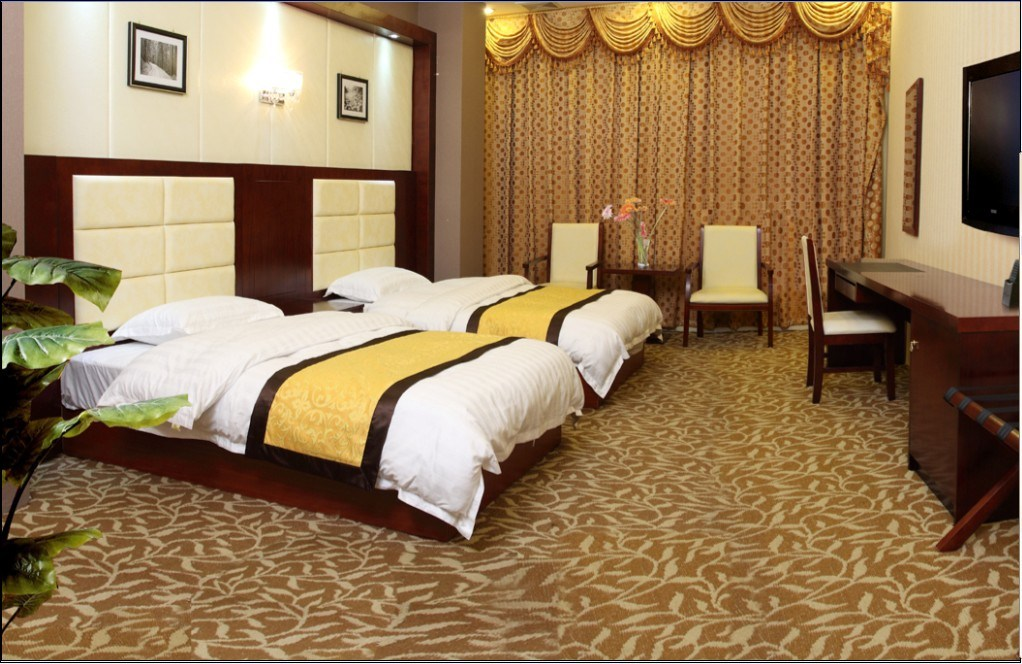 Hotel Bedroom Furniture/Luxury Double Bedroom Furniture/Standard Hotel Double Bedroom Suite/Double Hospitality Guest Room Furniture (CHN-011)