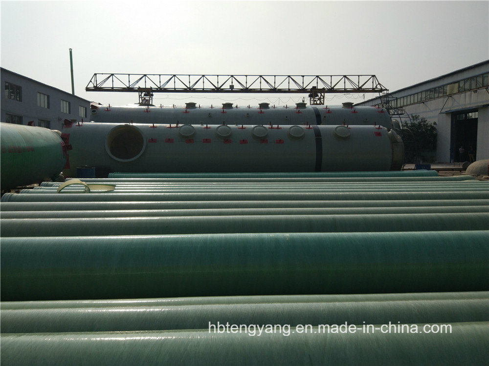 Large Diameter FRP Pipes GRP Water Transportation Pipes