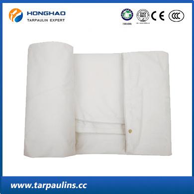 White Waterproof Durable Tarpaulin with Organic Silicon Coating