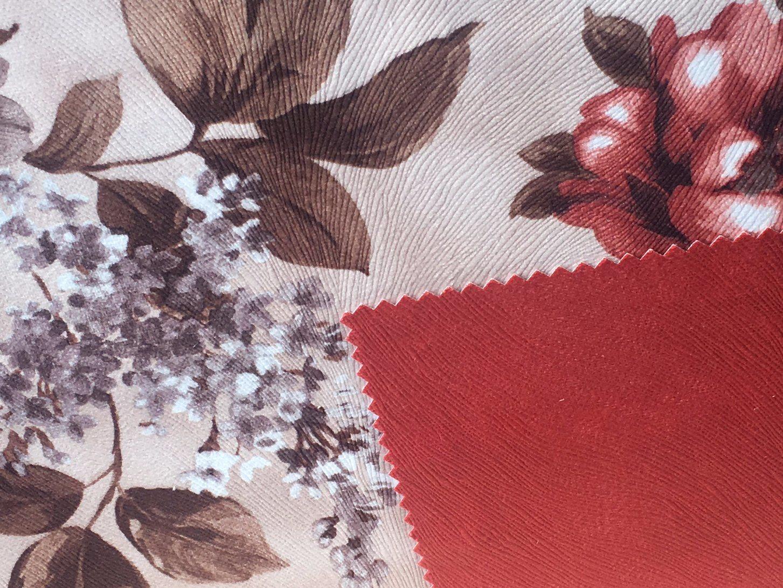 Printed Sofa Fabric/100%Polyester Embossed Velvet (PR015)