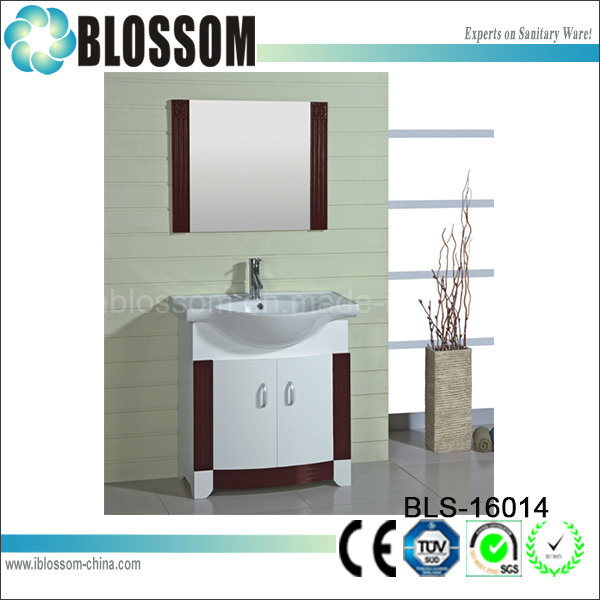 Floor Standing Bathroom Furniture Slim Bathroom Vanity (BLS-16014)