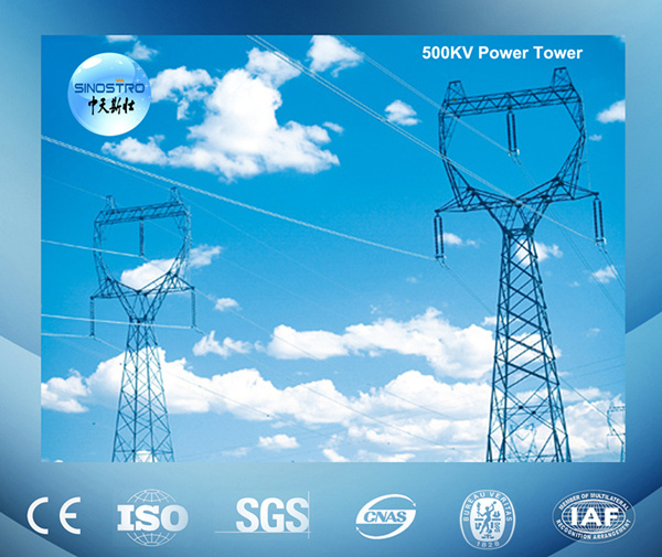 Galvanized 400kv Transmission Line Tower