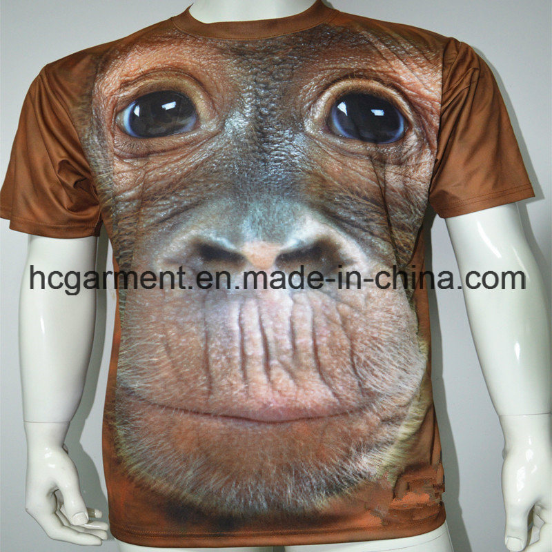 Fashion Short Sleeve Sublimation Printed Shirt for Man