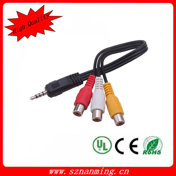 3.5mm Stereo to 3RCA Male RCA Cable