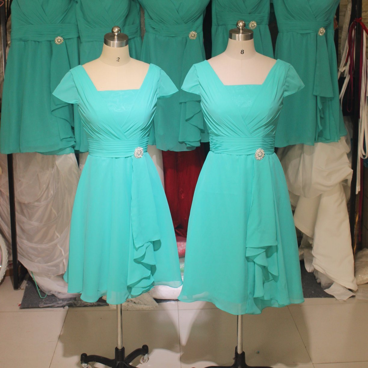 Blue Party Prom Dresses Mother Bridesmaid Evening Gowns Z3005