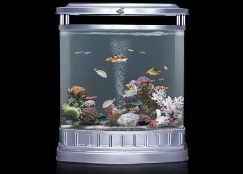 China cylindrical decoration aquarium office fish tank for Cylindrical fish tank
