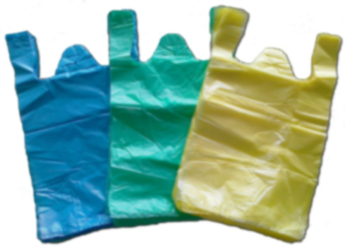 HDPE Plain Plastic Vest Handle Bag