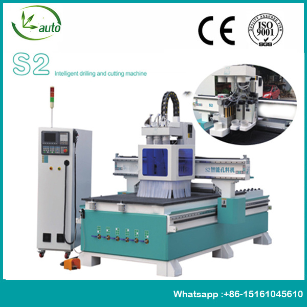 CNC Router with Boring Head for Furniture