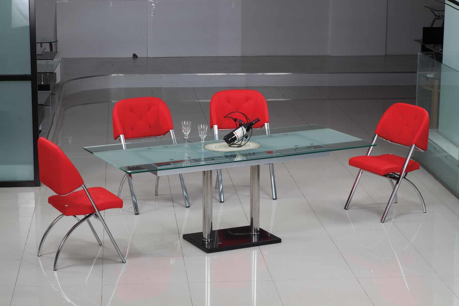 China fancy glass table d201 c207 china functional for Fancy glass dining table