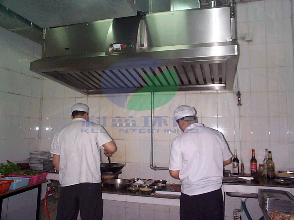 China kitchen fume extractor with electrostatic for Extractores de cocinas