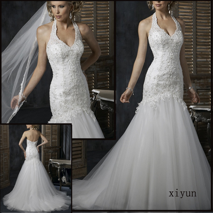 2010 Stunning White Wedding Dresses/Wedding Gown /Bridal Dress (Yan-12)