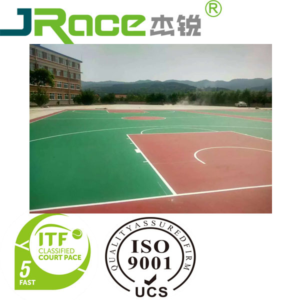 Blue Outdoor Silicon PU Court Sport Surface for Basketball/Tennis/Vollyball/Badminton