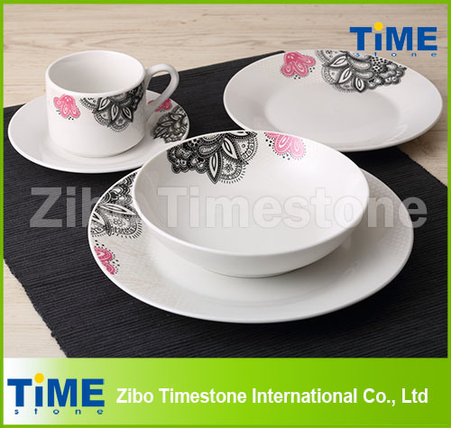 2014 New 20PCS Porcelain Dinner Set with Decal