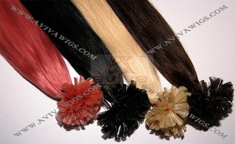 Pre Bonded Keratin Tip Human Hair Extensions
