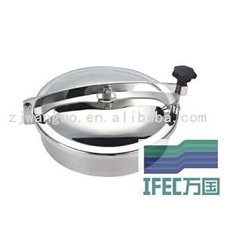 Sanitary Stainless Steel Round Manhole (IFEC-MH100007)
