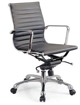 Hot Sale Modern Ergonomic Computer Leather Hotel Eames Office Chair Furniture (80096)