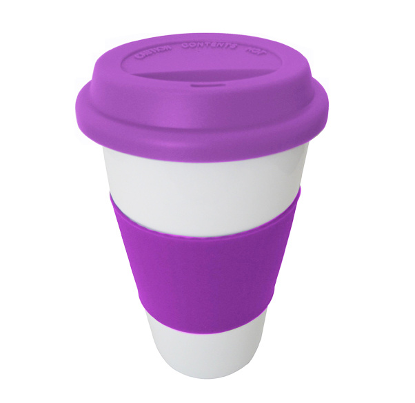 Portable Food Grade Travel Coffee Tea Mug Cup Lid