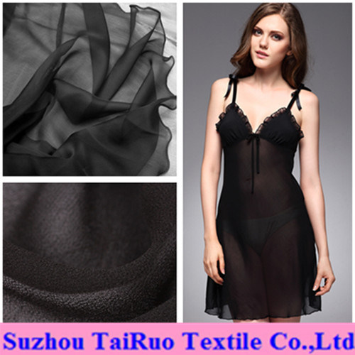100% Polyester Silk Chiffon for Lady Sleep Cloth Fabric