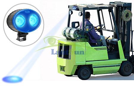8W Blue LED Work Light Safety Spot for Forklift Truck