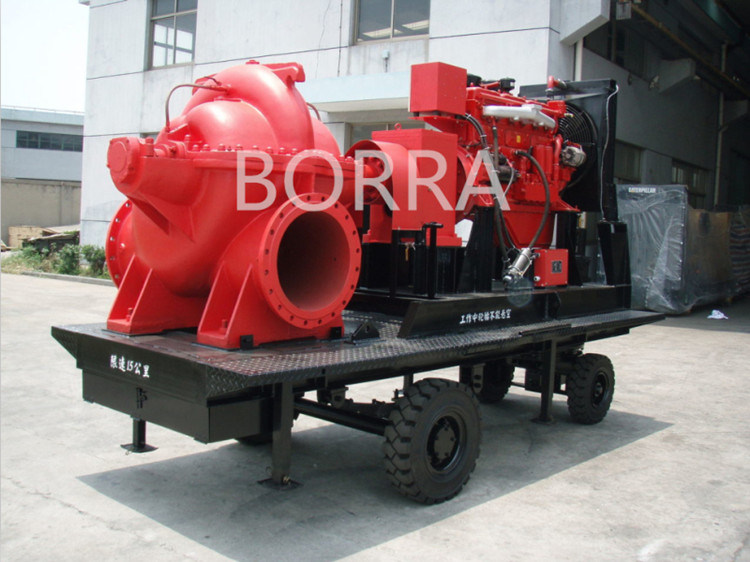 Emergency Diesel Fire Fighting Water Pump with Trailer