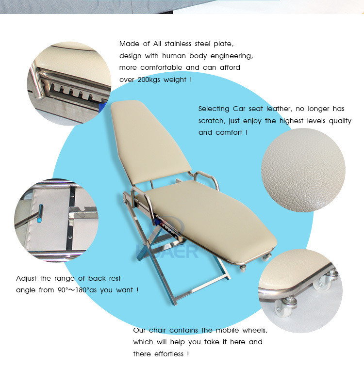 Newest Manufacturer Portable Mobile Dental Chair with Wheels
