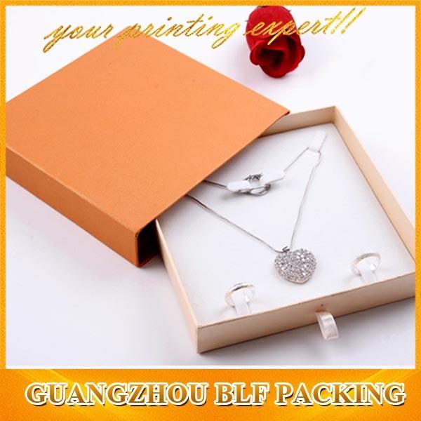 Hot Sale Black Cardboard Paper Jewelry Box (BLF-GB002)