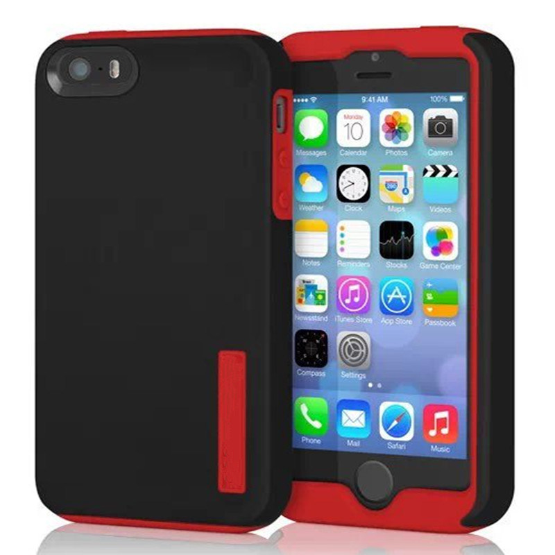 Factory Dualpro Stowaway Credit Card Integrated Stand TPU Case for iPhone 6