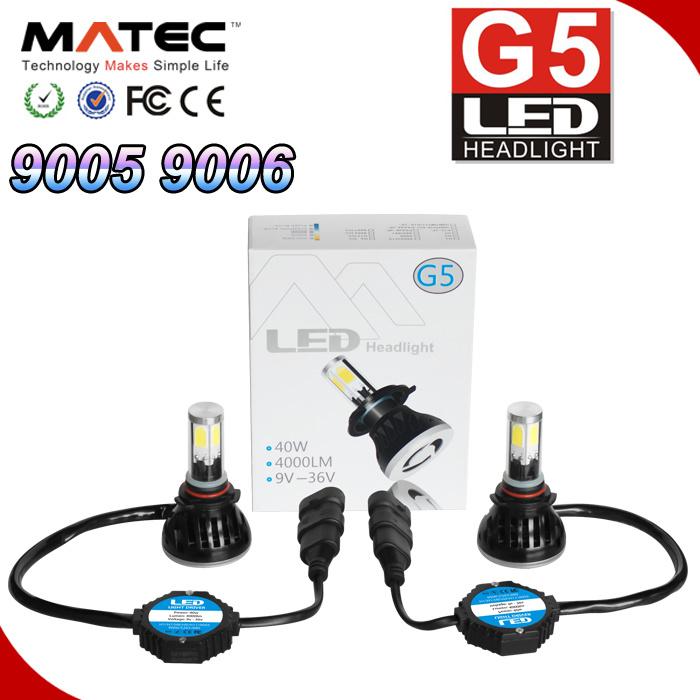 Car LED Headlight 40W 4000lm 9006 Headlamp LED Auto Bulb
