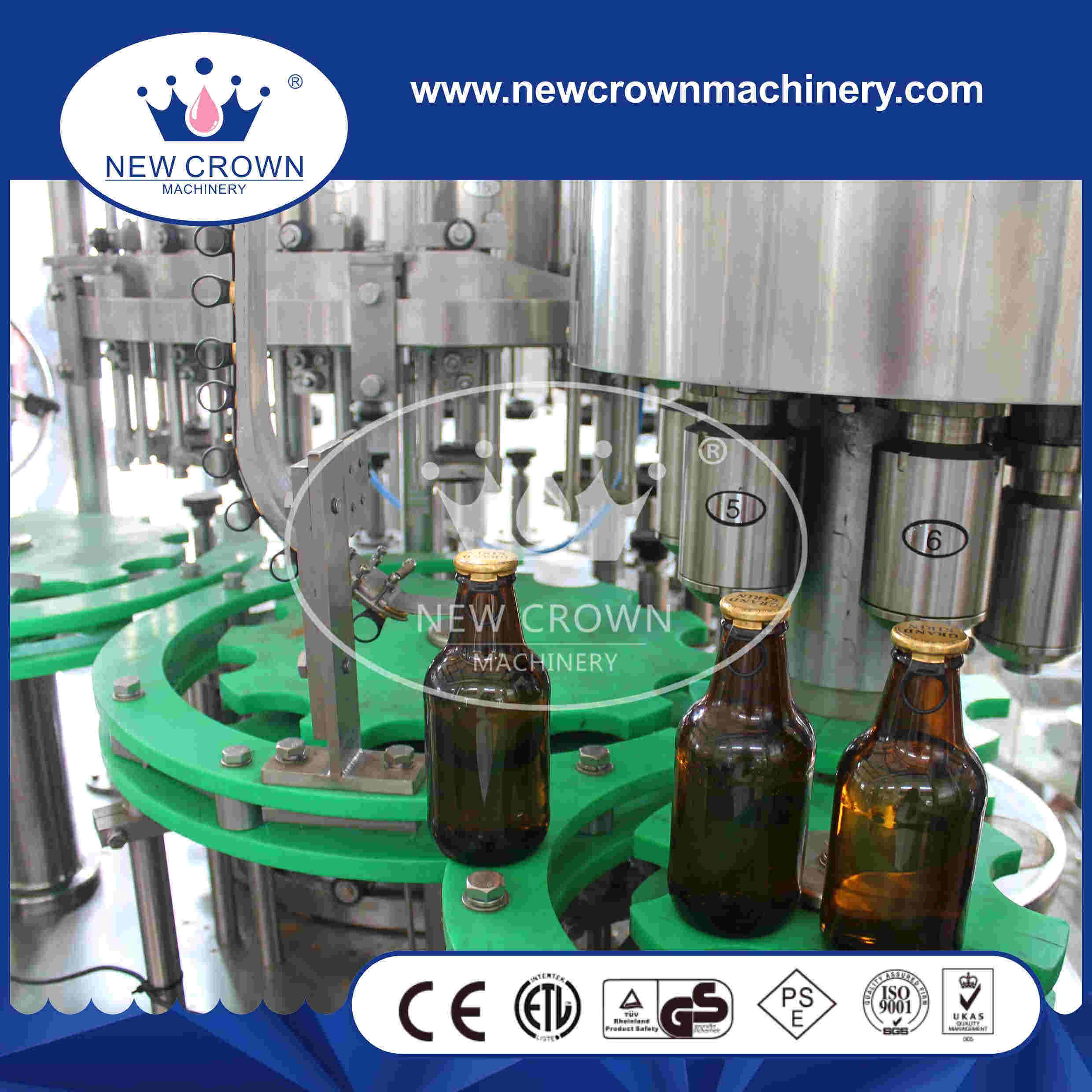 Automatic 3 in 1 Glass Bottled Beer Filling Machine pictures & photos