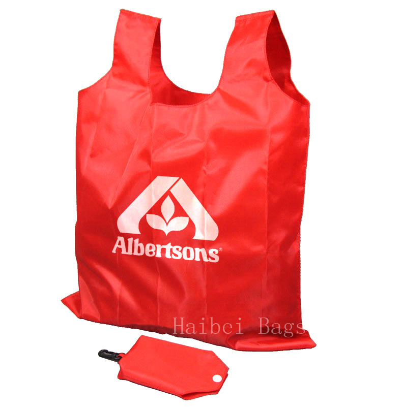 Portable Nylon Folding Bag, Foldable Shopping Bag (HBFB-37)