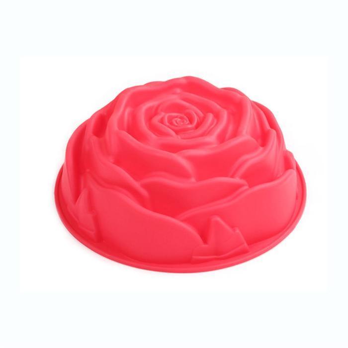 1PCS Rose Type Silicone Cake Mold Tools Baking Pan