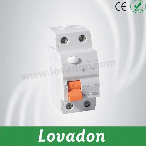 New Type Idn RCCB 2 Pole Residual Current Circuit Breaker