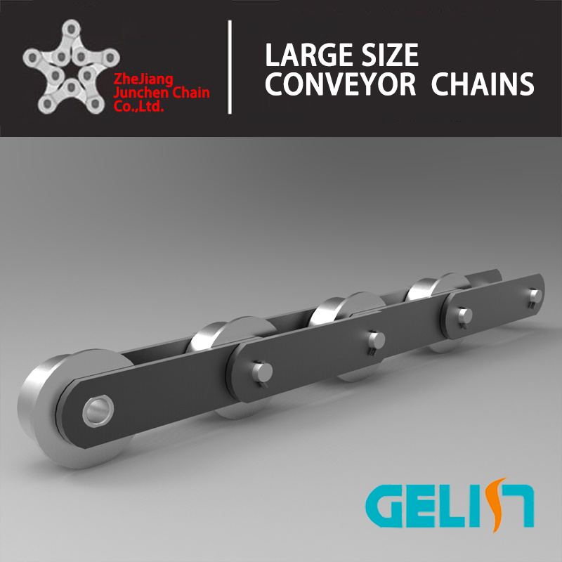 Customized OEM Cement Industrial Conveyor Chain Alloy Steel with Attachments