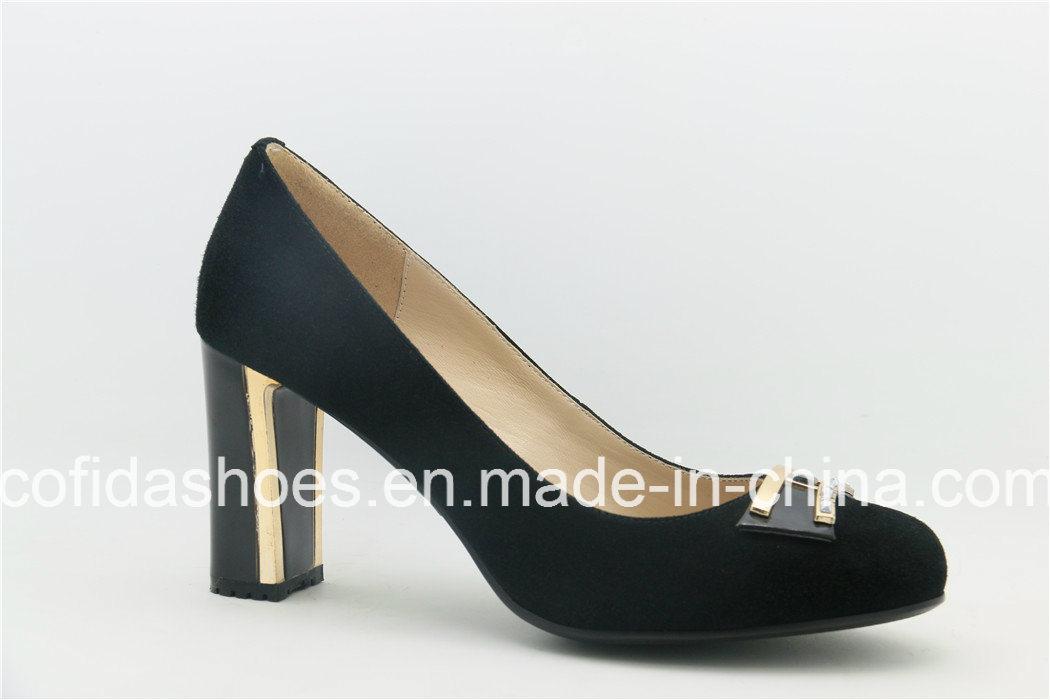 classic designs metal high heel shoes