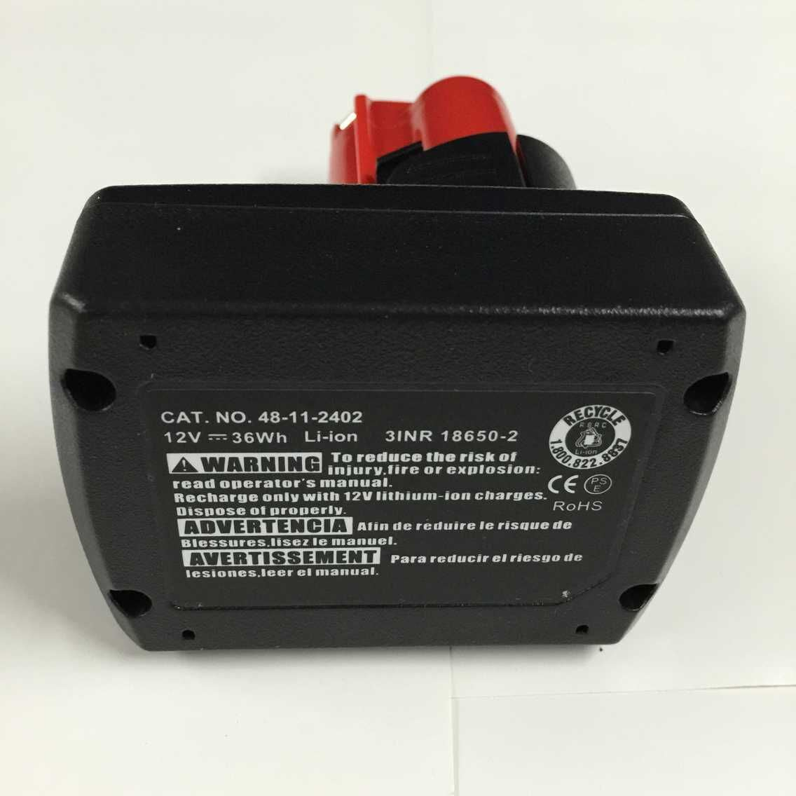 Power Tool Replacement Battery for Milwaukee M12 Xc Li-ion Battery