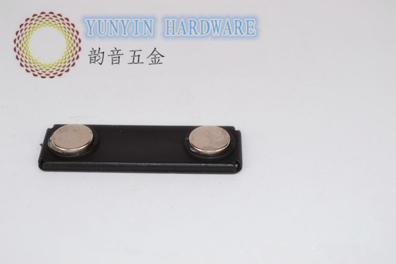 Plastic Caoted Magnet Name Badge with 2 PCS Ndefeb Magnets
